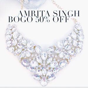 Amrita Iman Austrian Crystal Bib Necklace NWT